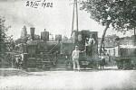 Lokomotive der Geyseritbahn 1922